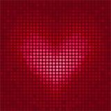 Cuore del pixel Fotografie Stock