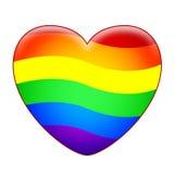 Cuore del Rainbow Immagini Stock