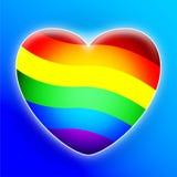 Cuore del Rainbow illustrazione di stock