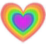 Cuore del Rainbow Immagine Stock
