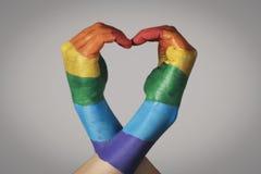 Cuore del Rainbow fotografia stock libera da diritti