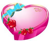 Cuore del regalo del giorno dei biglietti di S. Valentino Fotografia Stock Libera da Diritti
