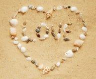 Cuore del Seashell Fotografia Stock