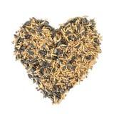 Cuore del seme dell'uccello Immagini Stock Libere da Diritti