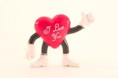 cuore del St-biglietto di S. Valentino Fotografie Stock