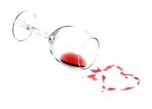 Cuore del vino Fotografia Stock