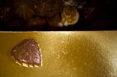 Cuore delizioso del cioccolato Fotografia Stock Libera da Diritti