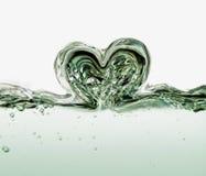 Cuore dell'acqua Fotografia Stock Libera da Diritti