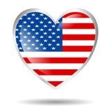 Cuore dell'America isolato Immagine Stock Libera da Diritti