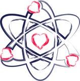 Cuore dell'atomo Fotografie Stock Libere da Diritti