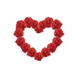 Cuore dell'illustrazione delle rose rosse Immagine Stock
