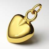 Cuore dell'oro dei monili Fotografie Stock