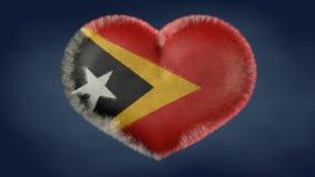 Cuore della bandiera di Timor Est. Heart of the flag of East Timor. Original image royalty free illustration