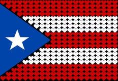 Cuore della bandierina del Porto Rico Immagine Stock