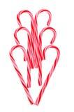 Cuore della canna di caramella Immagini Stock Libere da Diritti