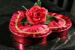 Cuore della caramella del biglietto di S. Valentino Immagini Stock Libere da Diritti