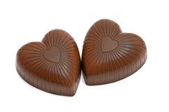 Cuore della caramella di cioccolato immagini stock