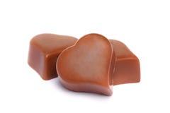 Cuore della caramella di cioccolato Immagine Stock