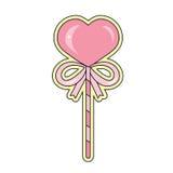 Cuore della caramella di giorno del ` s del biglietto di S. Valentino sotto forma di regalo Immagini Stock