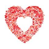 Cuore della forma dei cuori Per il giorno del ` s del biglietto di S. Valentino e marryage o l'altra celebrazione di amore Illust Immagini Stock Libere da Diritti