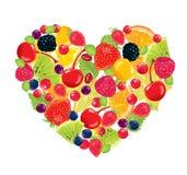Cuore della frutta Immagine Stock