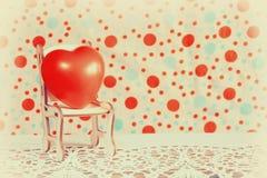 Cuore della gomma di giorno di biglietti di S. Valentino Fotografia Stock Libera da Diritti