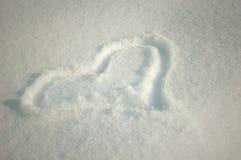 Cuore della neve Immagini Stock Libere da Diritti