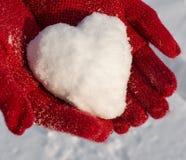 Cuore della neve Immagine Stock Libera da Diritti