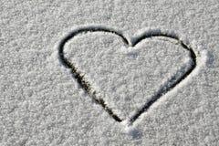 Cuore della neve Immagine Stock