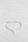 Cuore della neve su struttura dipinta del fondo Fotografia Stock Libera da Diritti