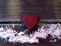 Cuore della pietra rosso Immagine Stock