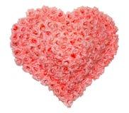 Cuore della Rosa di giorno dei biglietti di S. Valentino Immagine Stock Libera da Diritti