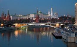 Cuore della Russia. Una vista di notte immagine stock libera da diritti