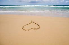 Cuore della sabbia Immagini Stock