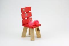 Cuore della sedia Immagine Stock