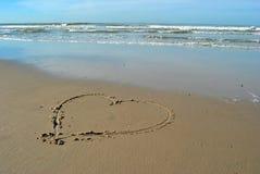 Cuore della spiaggia Fotografie Stock