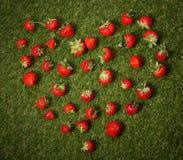 Cuore delle fragole fotografie stock libere da diritti