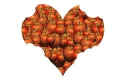Cuore delle mele Immagine Stock