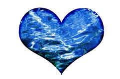 Cuore delle onde di acqua immagine stock
