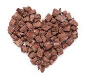Cuore delle parti scure del cioccolato. Fotografia Stock Libera da Diritti