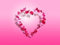 Cuore delle rose - priorità bassa del biglietto di S. Valentino della st Fotografia Stock Libera da Diritti