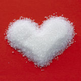 Cuore dello zucchero del biglietto di S. Valentino Fotografia Stock