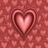 cuore dentellare dei biglietti di S. Valentino   illustrazione vettoriale