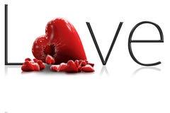 cuore di amore 3D Fotografia Stock Libera da Diritti