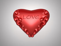 Cuore di amore del biglietto di S. Valentino Fotografia Stock