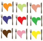 Cuore di amore dell'alimento di amore Fotografia Stock Libera da Diritti