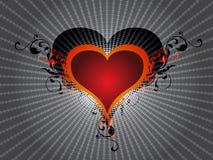 Cuore di amore di giorno di biglietti di S. Valentino Immagini Stock Libere da Diritti