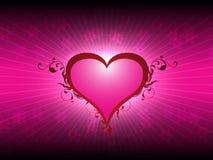 Cuore di amore di giorno di biglietti di S. Valentino Fotografie Stock Libere da Diritti