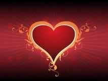 Cuore di amore di giorno di biglietti di S. Valentino Immagini Stock