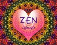 Cuore di amore di stile di vita di zen Immagine Stock